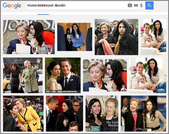 """구글 이미지 검색 화면 - """"Huma Mahmood Abedin"""""""