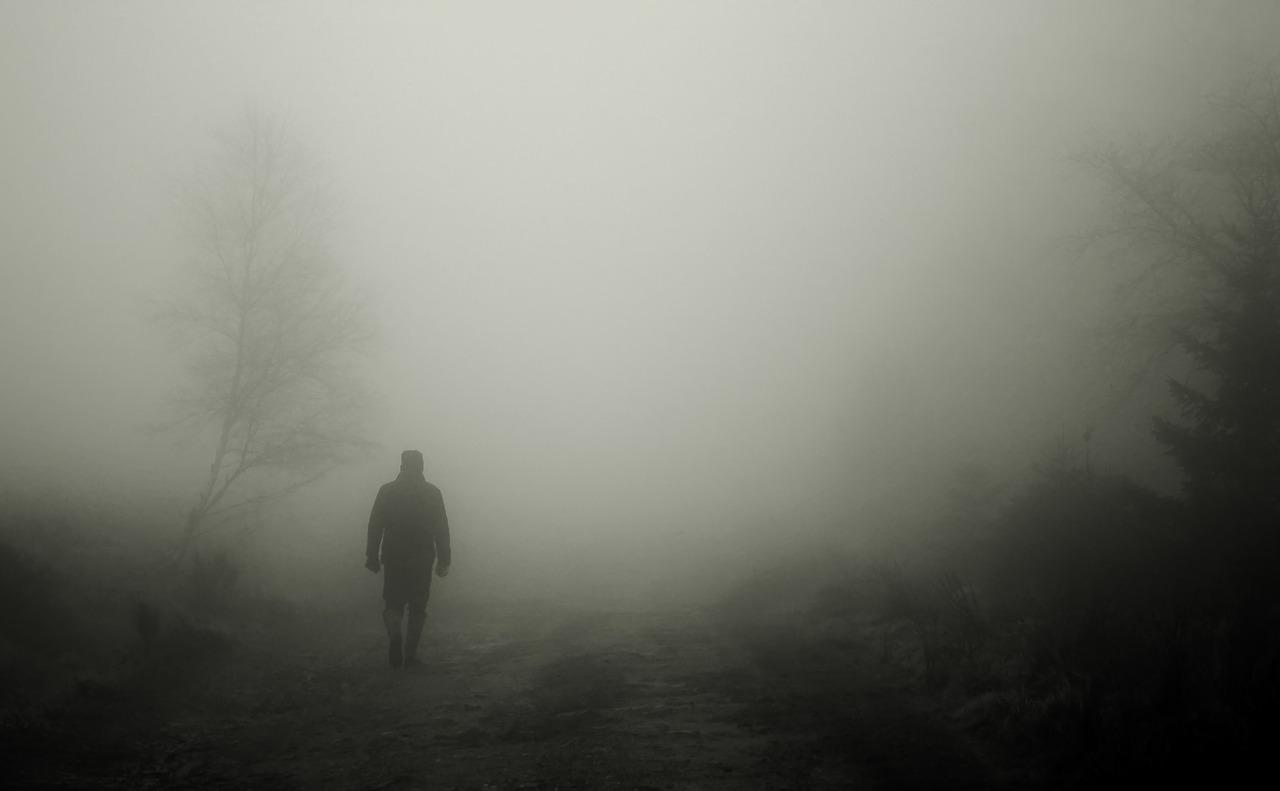 방황 고뇌 슬픔 진로 안개 갈등 도망 인생 남자 사람