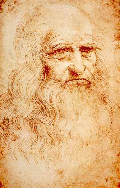 레오나르도 디 세르 피에로 다 빈치(Leonardo di ser Piero da Vinci, 1452년 4월 15일 ~ 1519년 5월 2일, 자화상 1510-1515년 경)