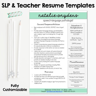 Resumes for SLPs and New Grads