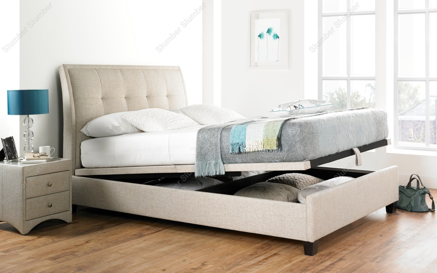 Accent Bed Kaydian Accent Ottoman Storage Bed Frame From