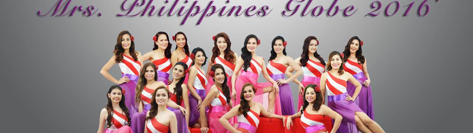 Mrs. Philippines Globe 2016 finalists