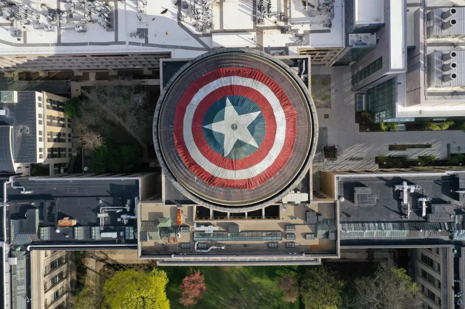 A group of Marvel fans turned MIT\u0027s Great Dome into Captain