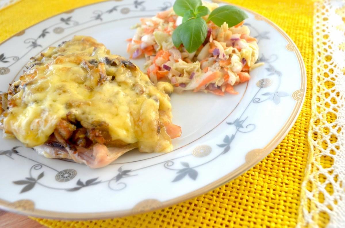 Filety z kurczaka zapiekane z pieczarkami i majonezem + film