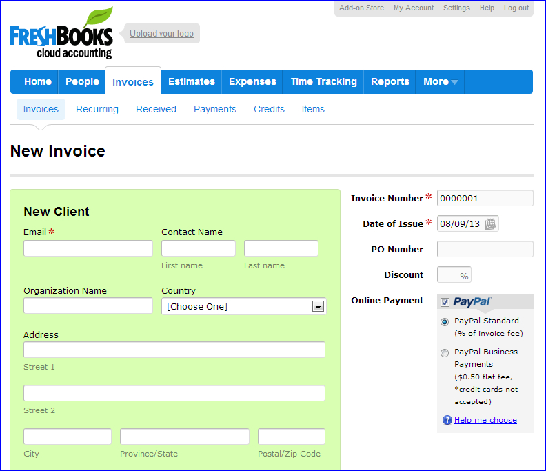 Stop the Headaches Review of Freshbooks Invoicing - Small Business - invoice creation
