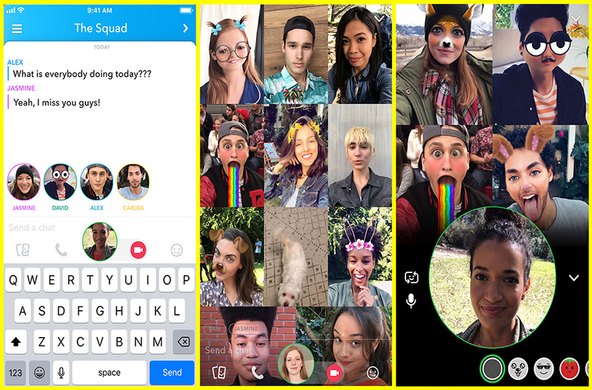 Snapchat Group Video Chat for Up to 16 People