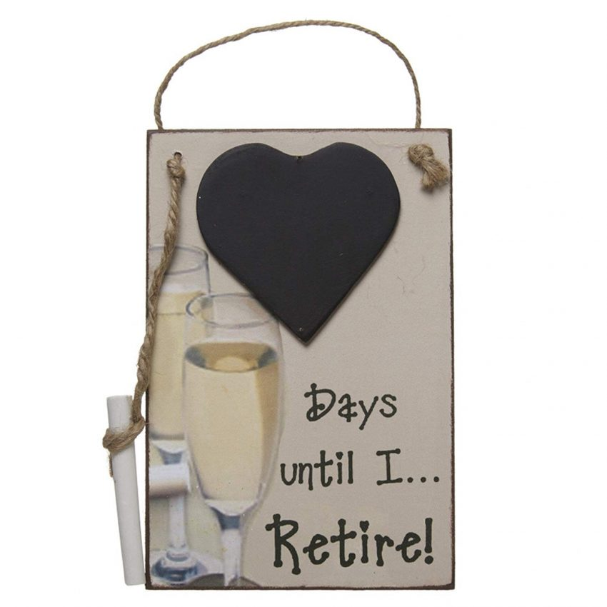 20 Christmas Gifts for Coworkers - Retirement Chalkboard