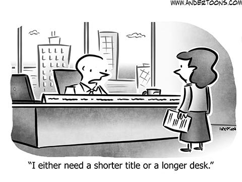 Name Plate Business Cartoon
