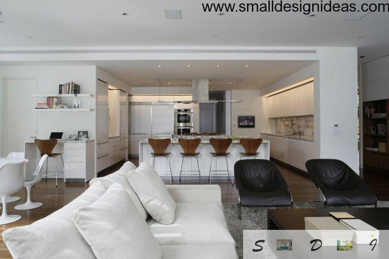 living dining kitchen zone decorated modern small open plan kitchen living room design ideas