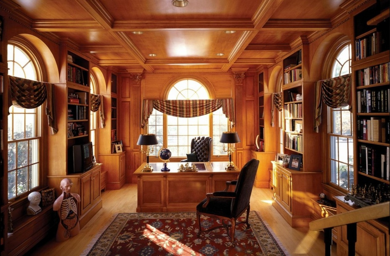 Classic Home Offices Top 15 Best Wooden Ceiling Design Ideas Small Design Ideas