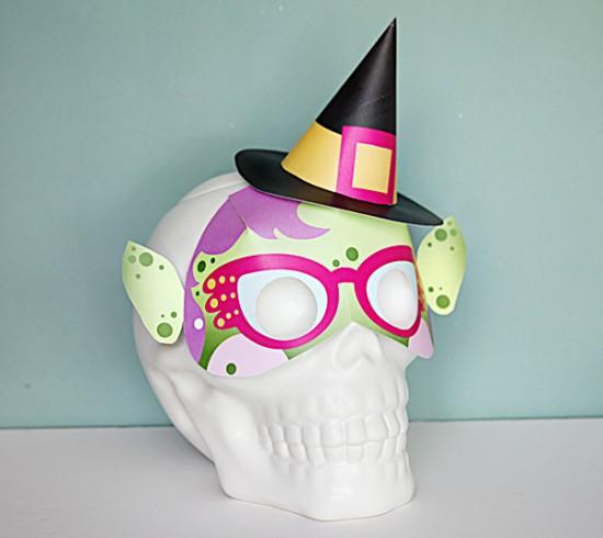 DIY Witch Mask \u2013 Printables for Kids \u2013 Halloween Last minute