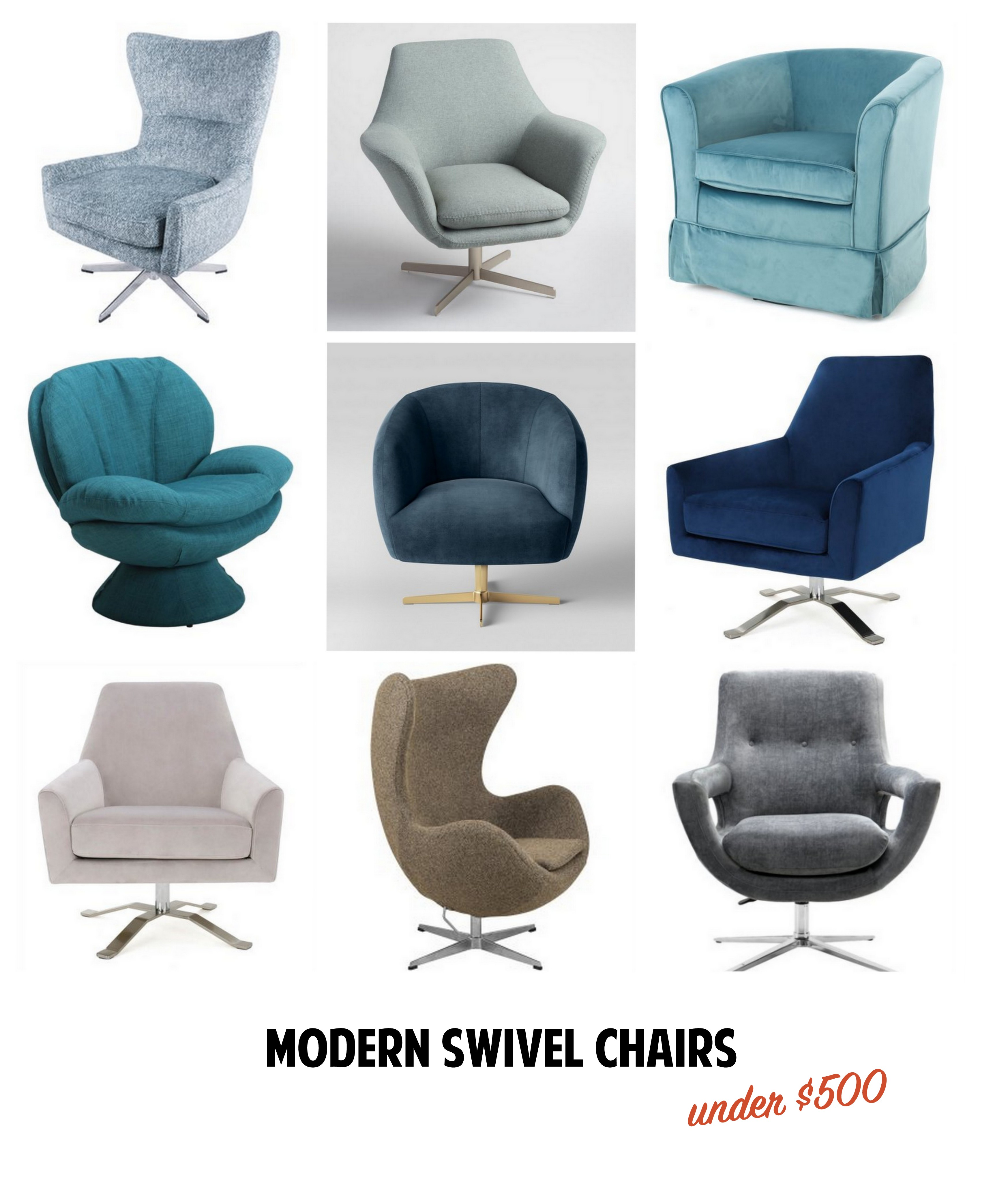 Modern Swivel Chairs Small Fry