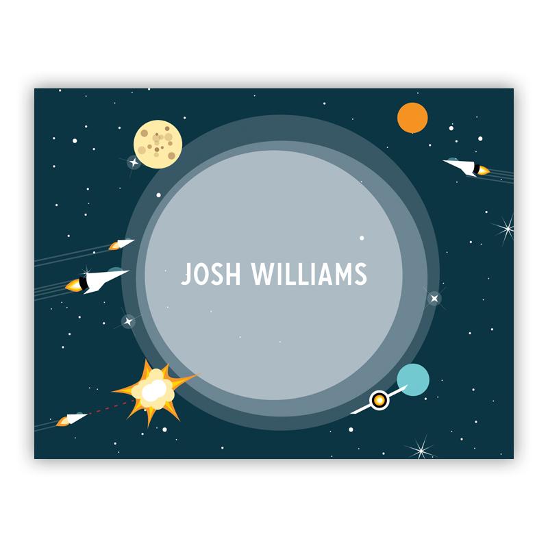 Galaxy Stationery, 25 Foldover Notecards by Boatman Geller