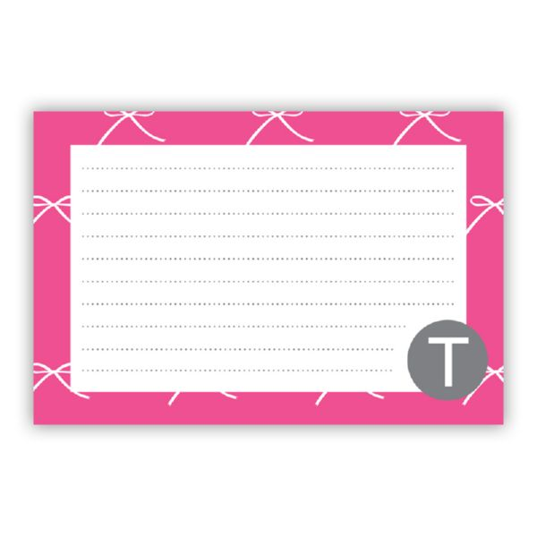 Chloe Personalized Double-Sided Recipe Cards (Set of 24) by