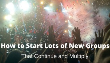 How to Start Lots of New Groups That Continue and Multiply