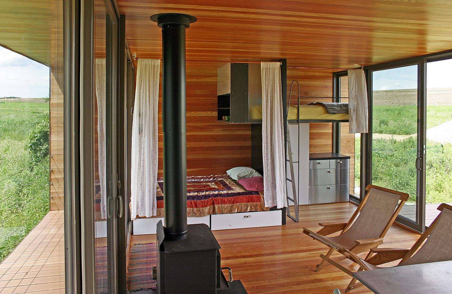 Small Homes Interior Gallery The Arado Weehouse A Modern Prefab Cabin