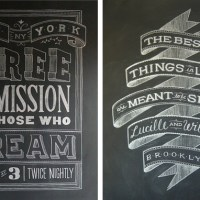 inspired by . Chalk Lettering