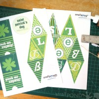 making . Saint Patrick's Day Mini-Banner [printable]