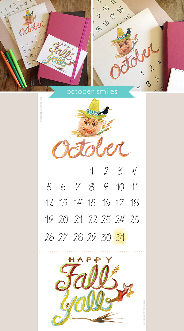 October! My Favorite Month is Here! [printable calendar]