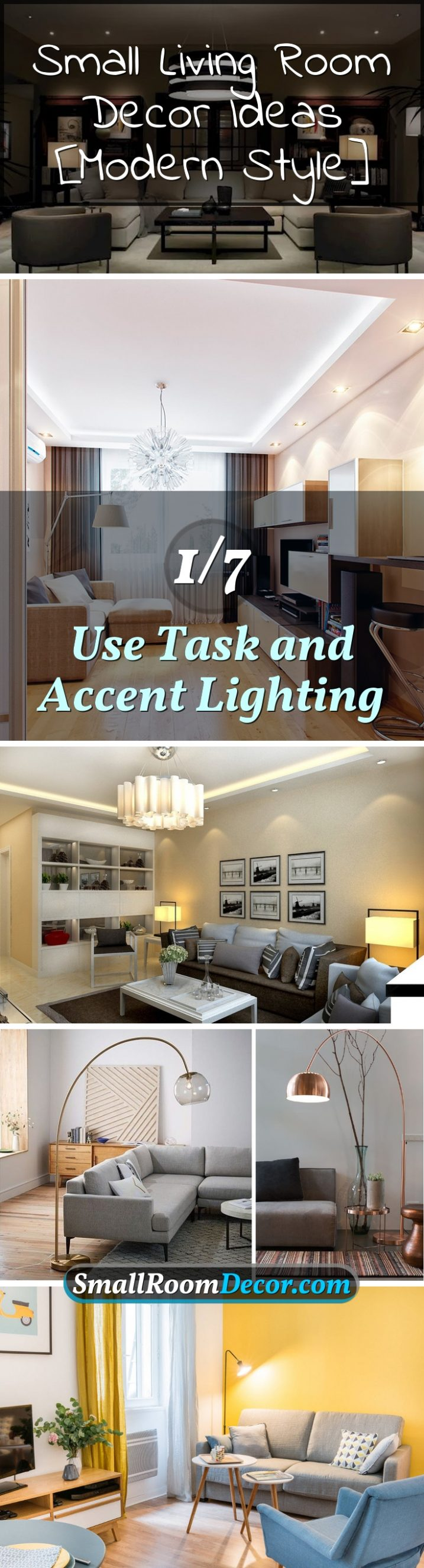Small Floor Spotlights 7 Small Living Room Decor Ideas