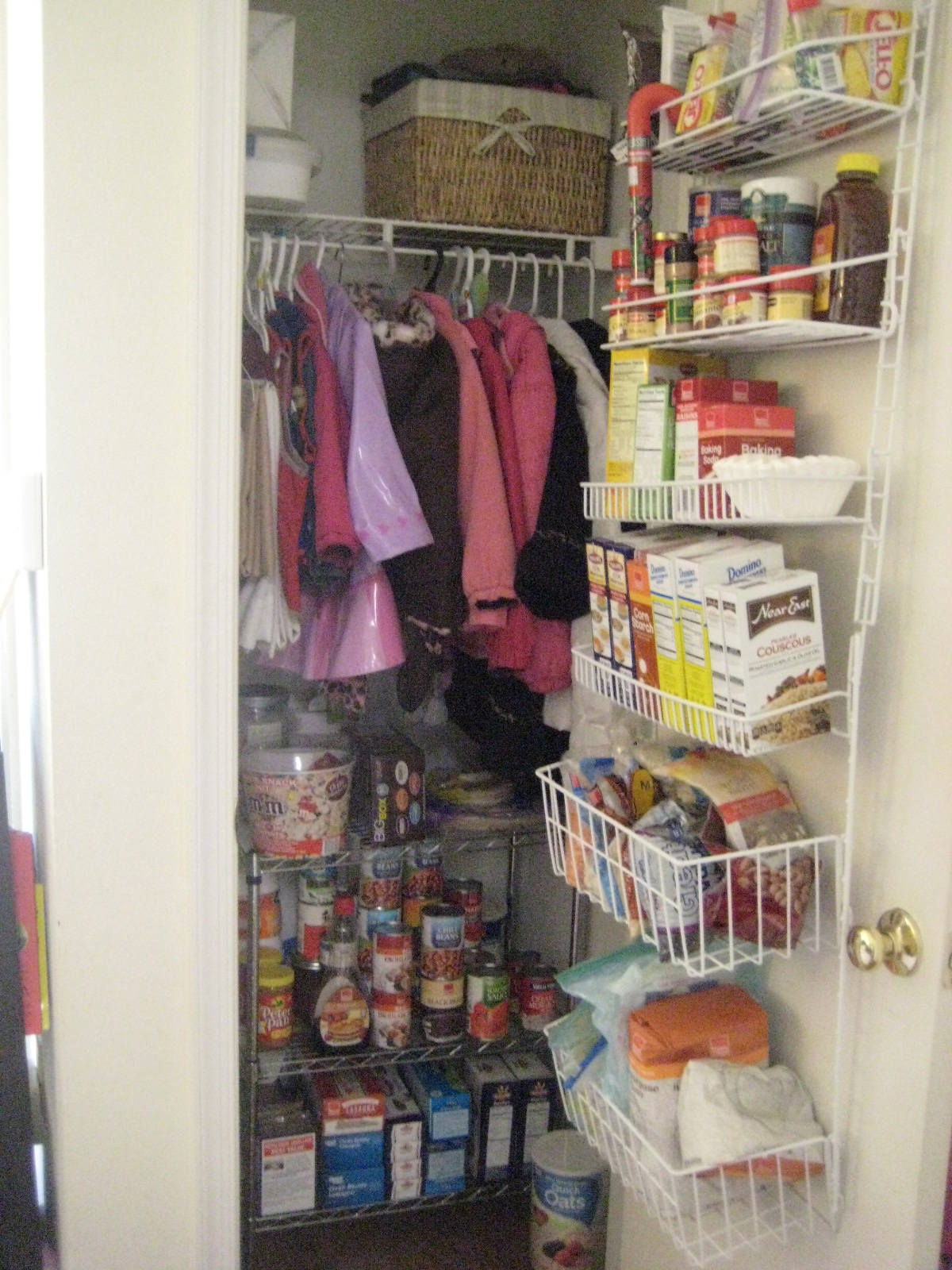 Closet Pantry Apartment Improv Coat Closet And Pantry Small Steps Big Picture