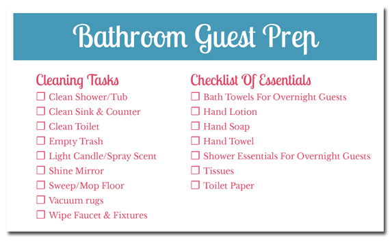 6 Tips For Creating A Guest Ready Bathroom (Plus A Printable - creating checklist