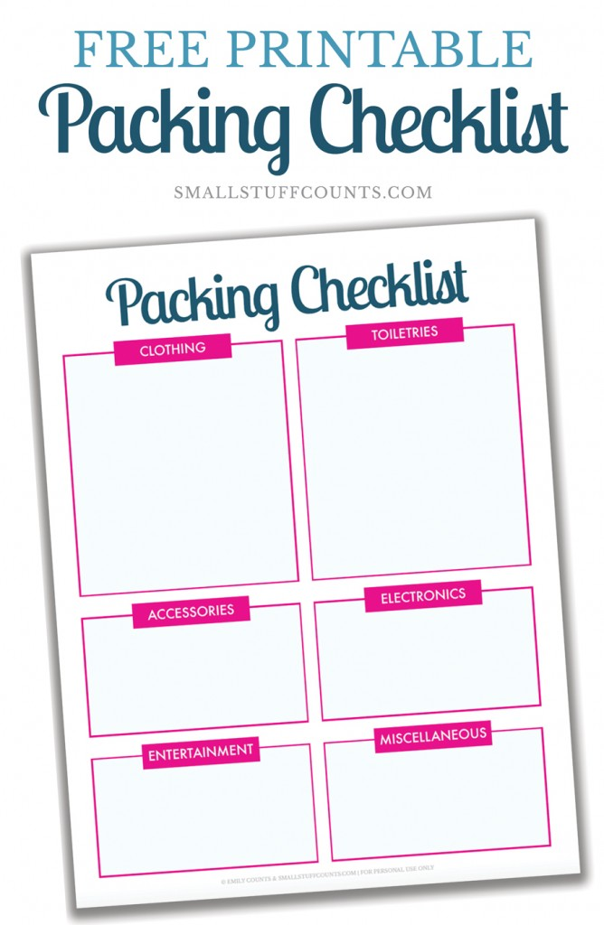 Organized Travel A Free Printable Packing List For Your Next Trip