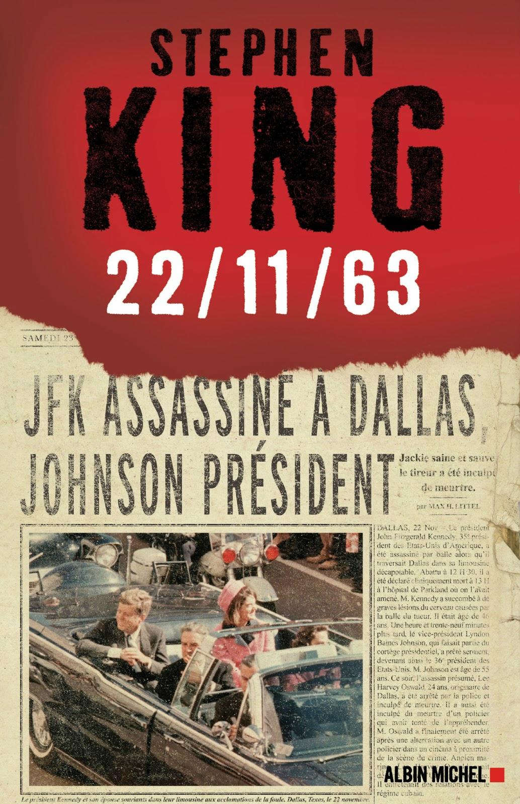 La couv française de 22/11/63 du King paru chez Albin Michel