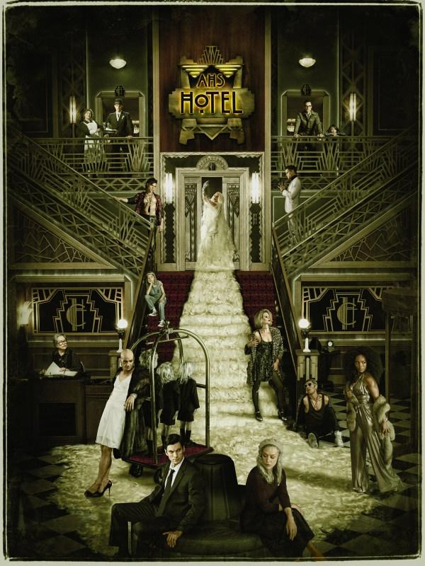 American Horror Story: Hotel Key art featuring cast