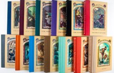 A Series of Unfortunate Events. Complete set of 13 volumes + Promotional Items [SIGNED BY HELQUIST AND INSCRIBED BY SNICKET] by Snicket, Lemony (Author); Brett Helquist (Illustrator)