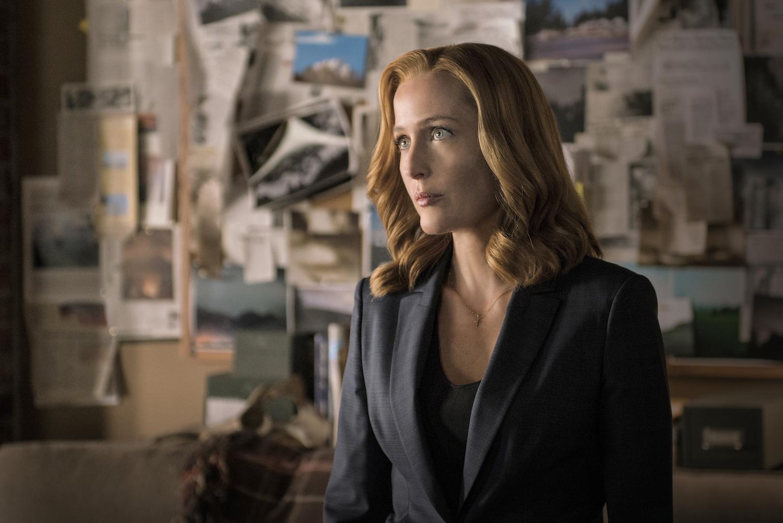 "THE X-FILES:  Gillian Anderson in the ""My Struggle II"" season finale episode of THE X-FILES airing Monday, Feb. 22 (8:00-9:01 PM ET/PT) on FOX.  ©2016 Fox Broadcasting Co.  Cr:  Ed Araquel/FOX"