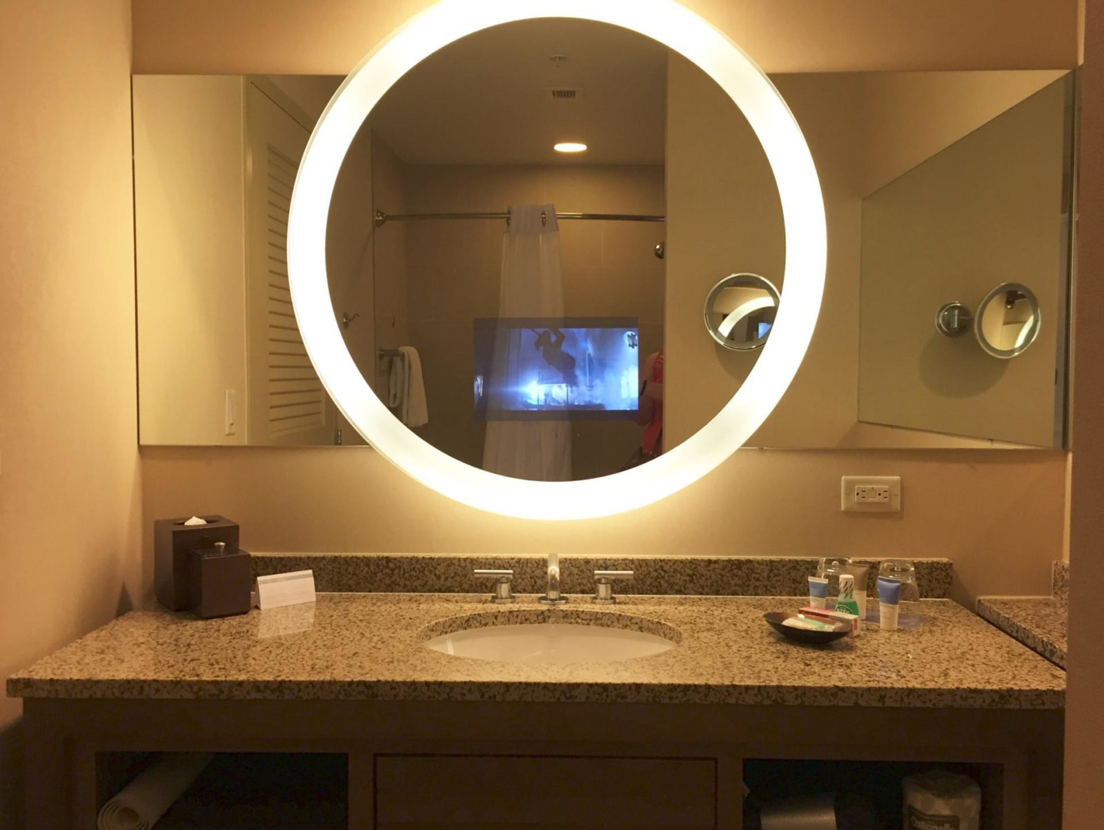 Bathroom Mirrors With Tv Built In 2 Nights At The Hyatt Regency Orlando Small Towns And City