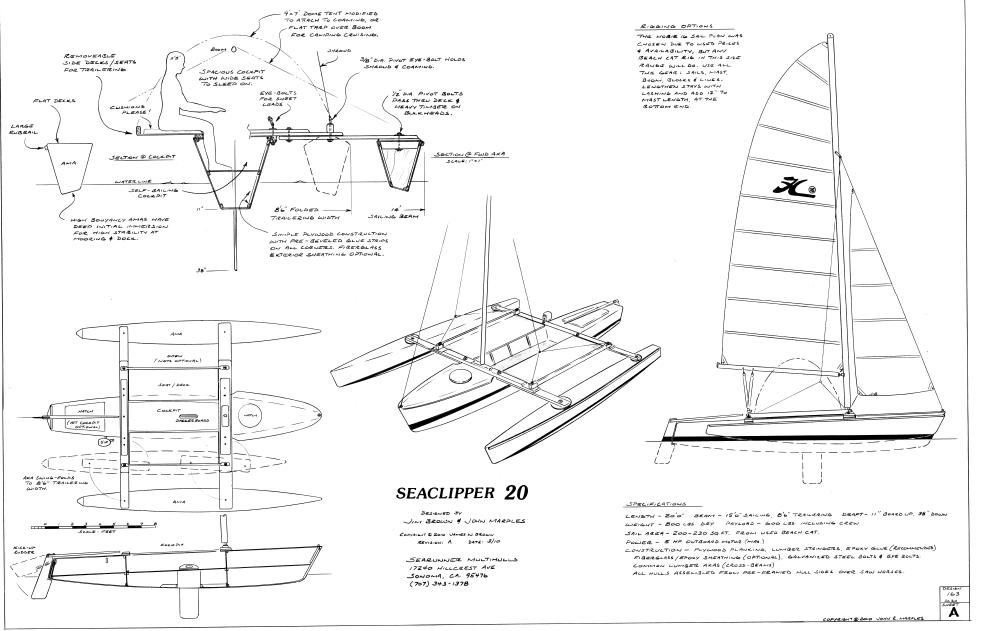 seaclipper-20-trimaran-drawing-1jpg (982×631) Boat, Yacht and - automotive bill of sale