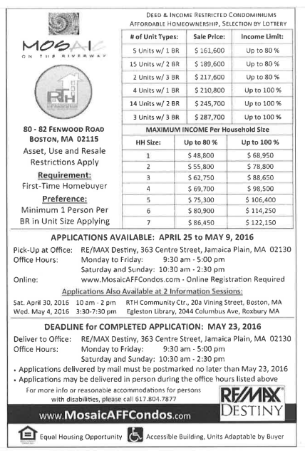 Mosiac Apartments on Jamaica way prices