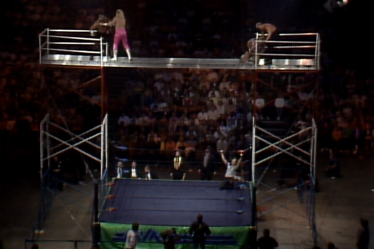 nwa starrcade 1986 scaffold match