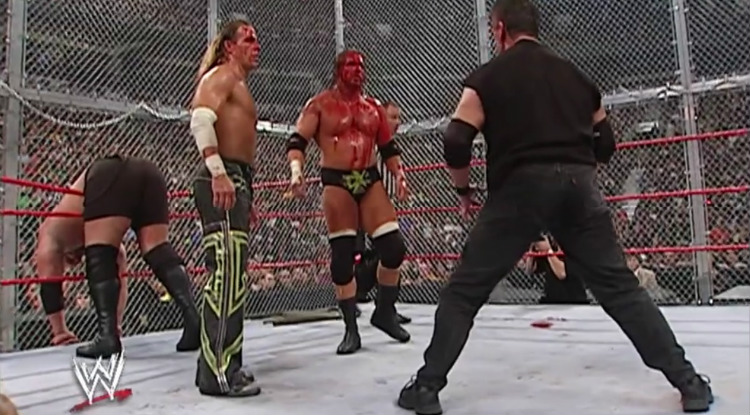dx vs mcmahons big show hell in a cell