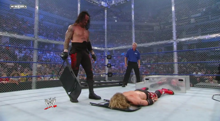 edge vs undertaker hell in a cell summerslam 2008