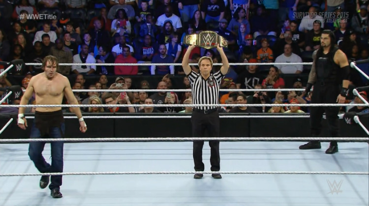 survivor series 2015 dean ambrose vs roman reigns