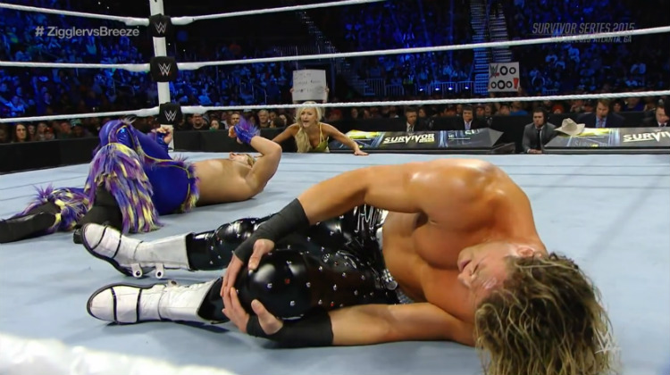 survivor series 2015 tyler breeze vs dolph ziggler