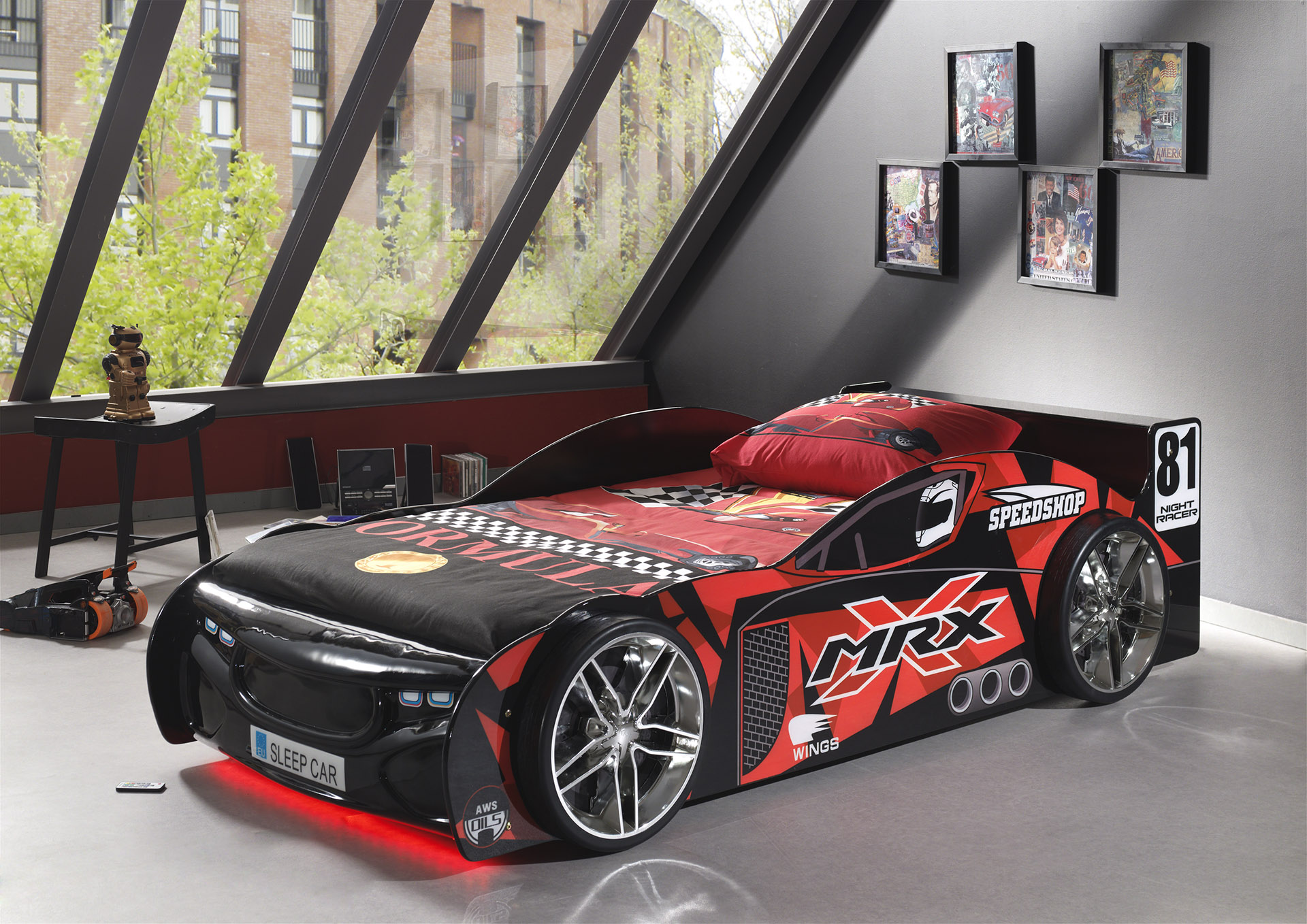 Chambre Spiderman Conforama Lit Voiture Tuning Black Avec Led