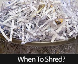 When Should You Shred Your Financial Documents?