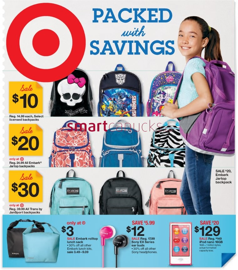 Target Canada Flyer Deals Great Sales and Deals on Back to School - back to school flyers