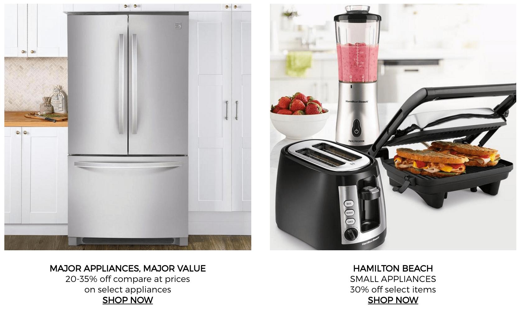Appliances major small kitchen