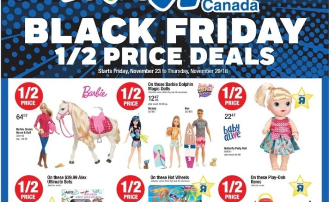 Toys R Us Canada Black Friday 2018 Flyer Deals Released