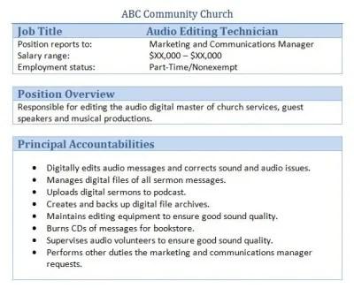 Webmaster job description resume