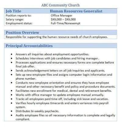 Doc#12751650 Hr Director Job Description u2013 ABCccbi Hr Manager - hr director job description