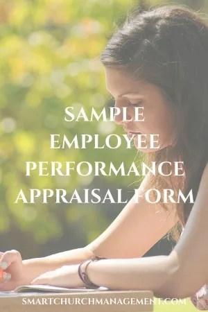 Example Employee Performance Appraisal Form \u2014 Smart Church Management