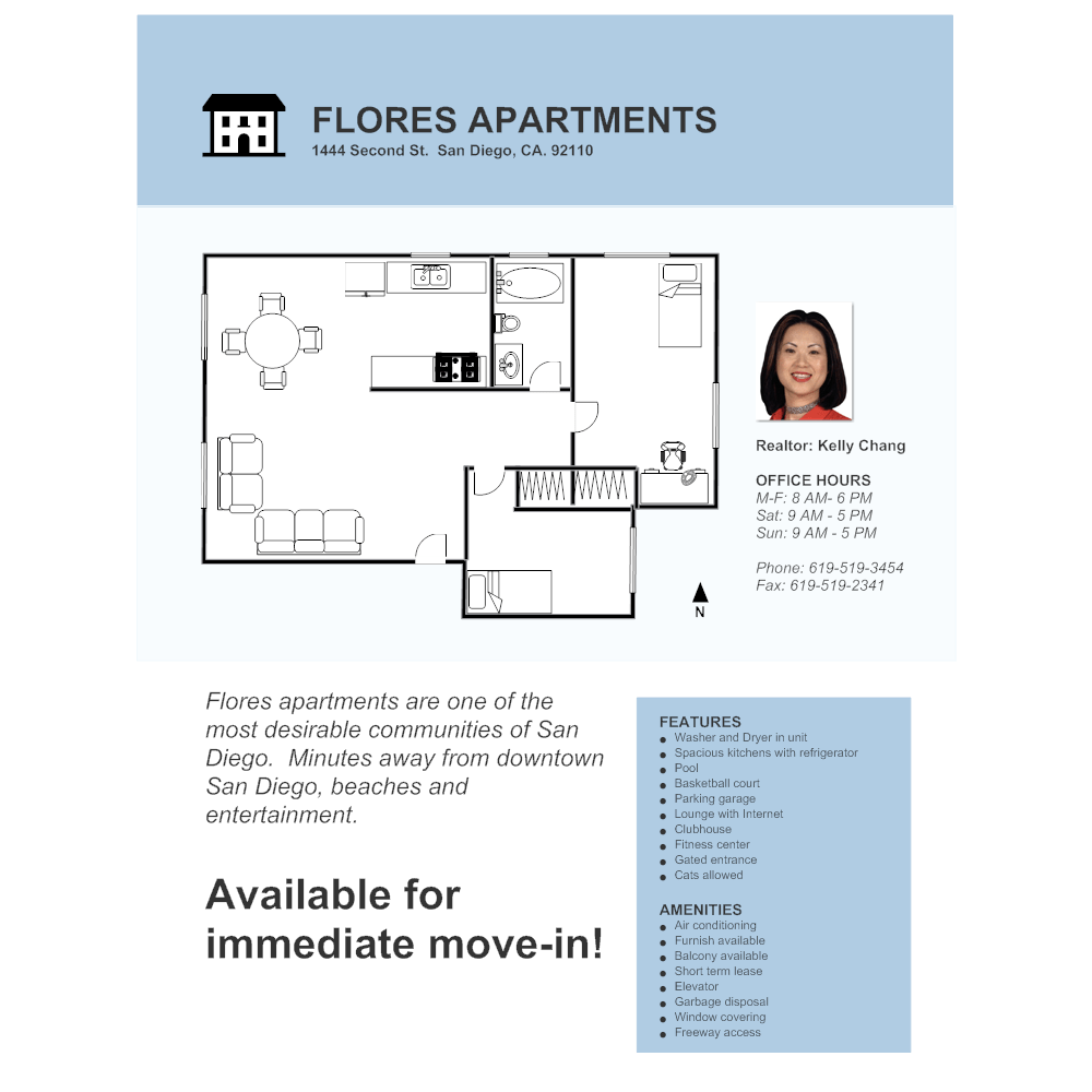 Garage Apartment Example Apartment Real Estate Flyer