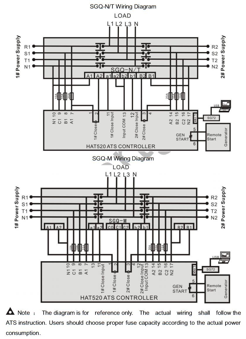 auto mains failure wiring diagram