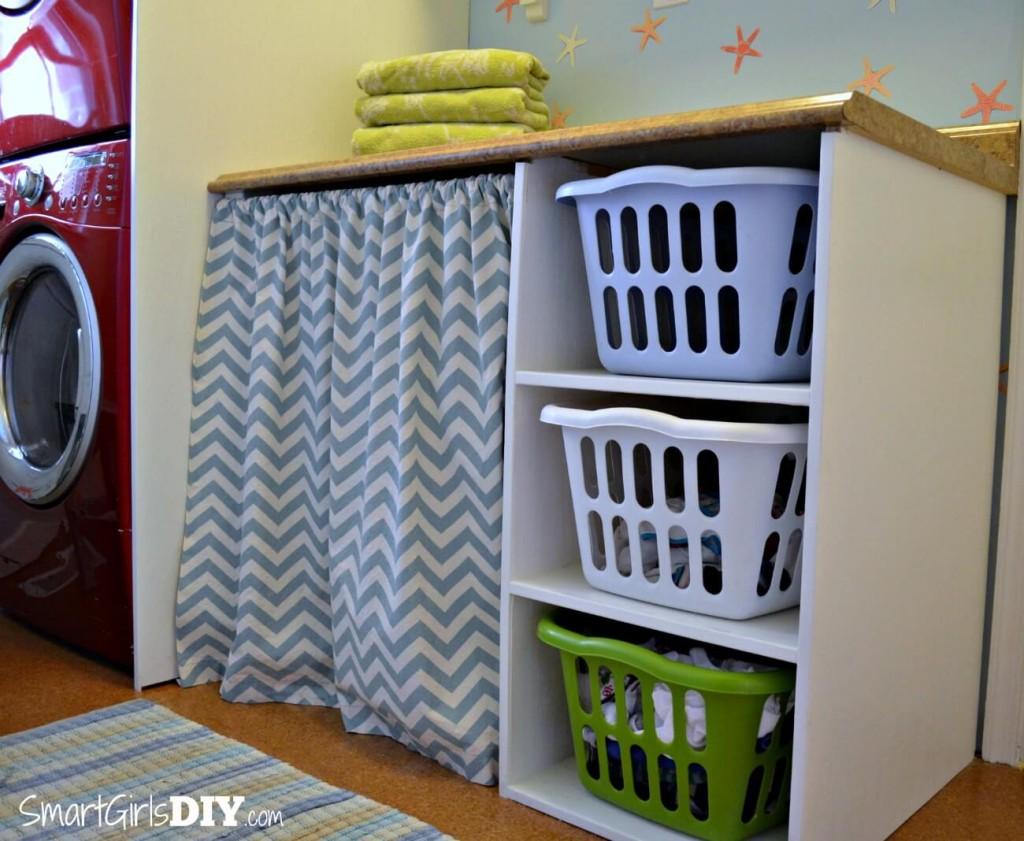 Laundry Basket With Shelves Diy Laundry Basket Organizer Diy Do It Your Self